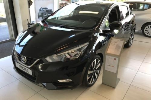 Nissan Micra New Tekna automaat 100pk Demo Black metallic €6 temp