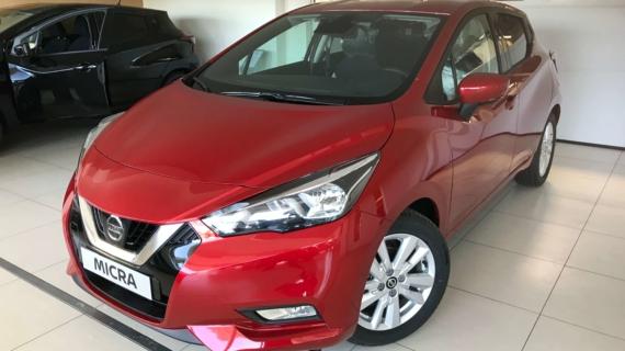 Nissan Micra New N-Connecta 1.0 benzine rood 100 pk