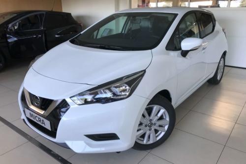 Nissan Micra new Acenta + style pack benzine 1.0 wit metaal kleur