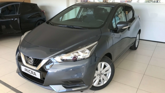 Nissan Micra benzine 1.0 Grijs Acenta + Style pack New