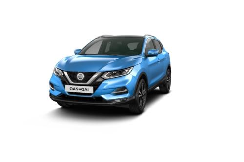 Nissan Qashqai 1.3 benzine 140pk N-Connecta+glas dak / blauw