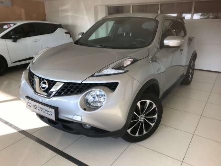 Nissan Juke Tekna 1,2 benzine zilver/zwart leder/xenon/opendak/GPS